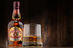 Bottle of Chivas Regal 12 blended Scotch whisky Stock Photography