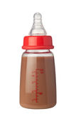 Bottle of chocolate flavoured milk Royalty Free Stock Images