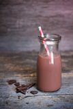 Bottle of chocolate milk Stock Image