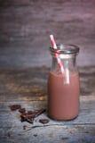 Bottle of chocolate milk Stock Image