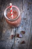 Bottle of chocolate milk Royalty Free Stock Images