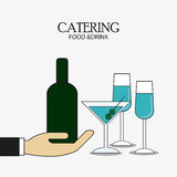Bottle cocktail drink catering icon Stock Photos