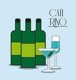 Bottle cocktail drink catering icon Royalty Free Stock Photos