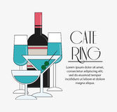 Bottle cocktail drink catering icon Royalty Free Stock Photography