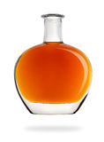 Bottle of cognac isolated Royalty Free Stock Photos