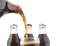 Bottle of cola soda isolated. A bottle of cola soda isolated on a white background coca cola Stock Photography