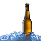 Bottle of cold beer Royalty Free Stock Images