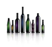Bottle collection. Illustrated bottle collection on white background Stock Images
