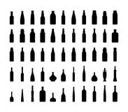 Bottle collection silhouette. Royalty Free Stock Photo