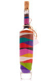 Bottle with colorful sand Stock Photo
