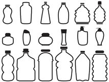 Bottle container outline icons Stock Photography
