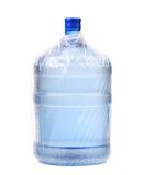 Bottle for cooler in plastic packet. Stock Photo