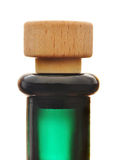 Bottle cork. A bottle with cork isolated against white background Royalty Free Stock Photography