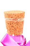 Bottle cork. Beautiful shot of bottle cork on white background Stock Photo