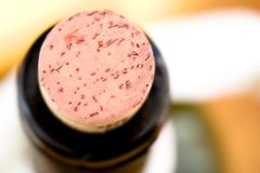 Bottle cork - Beverage concept background Royalty Free Stock Photos