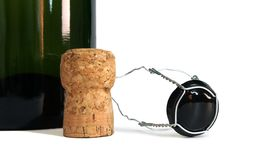 Bottle and cork Stock Image