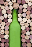 Bottle and corks Royalty Free Stock Photography