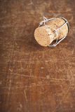 Bottle corks on the wooden background Stock Photography