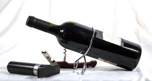 Bottle, Corkscrew and vacuum Royalty Free Stock Photography