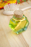 Bottle of cosmetic oil Royalty Free Stock Images