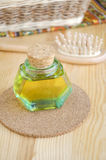 Bottle of cosmetic oil Stock Photography