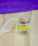 Bottle of cosmetic oil Stock Images