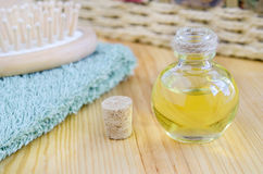 Bottle of cosmetic oil Royalty Free Stock Image