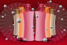 bottle cosmeticen Arkivbild