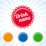 Bottle cover colored icon. Colorful bottle caps vector design for juice, water, cola and soda drink. Drink lid design Royalty Free Stock Photos