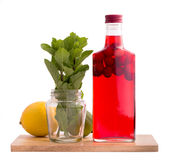 Bottle of cranberry drink isolated Royalty Free Stock Image