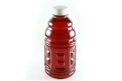 A Bottle of cranberry juice Royalty Free Stock Image