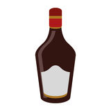 Bottle cream whiskey liqueur icon. Drink vector illustration eps 10 Royalty Free Stock Photo