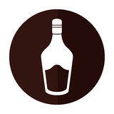 Bottle cream whiskey liqueur icon shadow. Vector illustration eps 10 Royalty Free Stock Image
