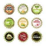 Bottle cups set royalty free illustration