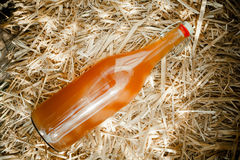 Bottle of delicious natural homemade nectar Stock Photography