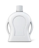 Bottle of detergent with a blank label. Front view. Cleaning pro Royalty Free Stock Photography