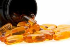Bottle of diet supplement Stock Photos