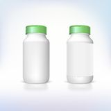 Bottle for dietary supplements and medicines. Royalty Free Stock Photo