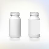 Bottle for dietary supplements and medicines. Stock Image