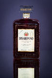 Bottle of Disaronno flavoured alcohol liqueur, close up Stock Image
