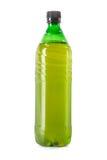 Bottle of draft beer. Full one-liter green plastic bottle of draft beer Royalty Free Stock Photos