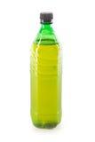 Bottle of draft beer. Full one-liter green plastic bottle of draft beer Royalty Free Stock Photo