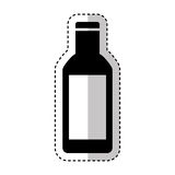 Bottle drink silhouette isolated icon Royalty Free Stock Photography