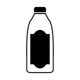 Bottle drink silhouette isolated icon Royalty Free Stock Image