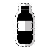 Bottle drink silhouette isolated icon Royalty Free Stock Photos