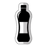 Bottle drink silhouette isolated icon Stock Photo