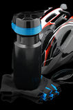Bottle for drinking and biking accessories. Stock Images