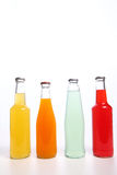Bottle. Drinks in glass bottles isolated on white Royalty Free Stock Photos