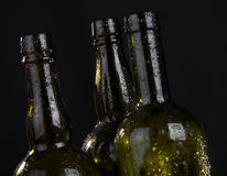 Bottle and drops Royalty Free Stock Photo