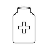 Bottle drug isolated icon Royalty Free Stock Image